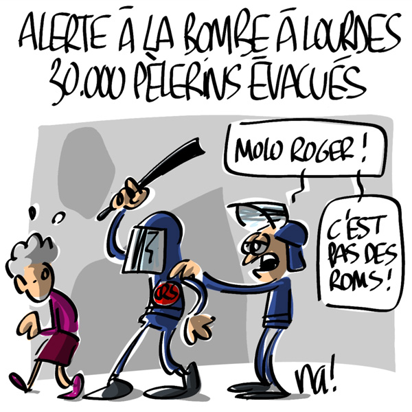 Nactualités : Alerte à la bombe à Lourdes : 30.000 pélerins évacués