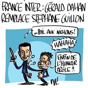 Nactualités : France Inter, Gérald Dahan remplace Stephane Guillon
