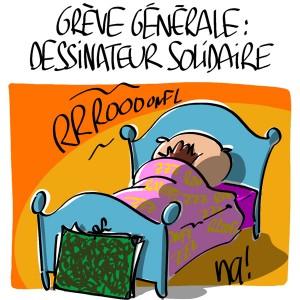 Nactualités : grève générale, dessinateur solidaire !