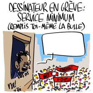 Nactualités : dessinateur en grève, service minimum