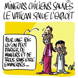 Nactualités : mineurs chiliens sauvés, le Vatican salue l'exploit