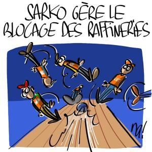 Nactualités : Nicolas Sarkozy débloque les raffineries par la force