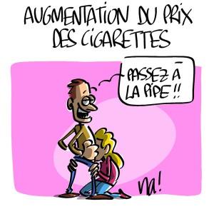 Nactualités : augmentation du prix des cigarettes