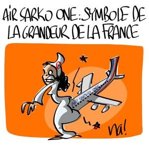 Nactualités : Air Sarko One, symbole de la grandeur de la France