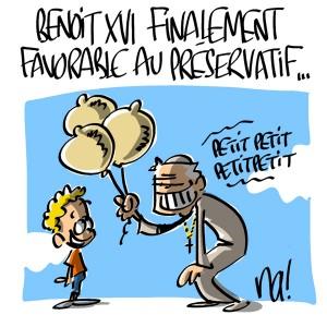 Nactualités : Benoit 16 finalement favorable au préservatif…