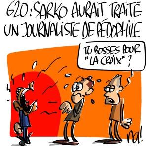 Nactualités : G20, Nicolas Sarkozy aurait traité un journaliste de «pédophile»