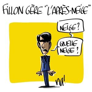 Nactualités : François Fillon gère «l'après-neige»