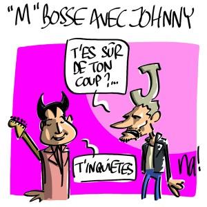 Nactualités : Mathieu Chedid «M» bosse avec Johnny