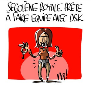 Nactualités : Ségolène Royal est prête à faire équipe avec DSK