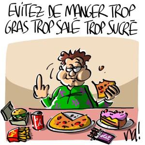 Nactualités : évitez de manger trop gras, trop salé, trop sucré