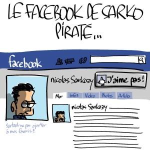 Nactualités : le facebook de Nicolas Sarkozy a été piraté