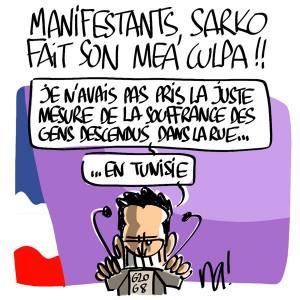 Nactualités : Manifestants, Nicolas Sarkozy fait son mea culpa !