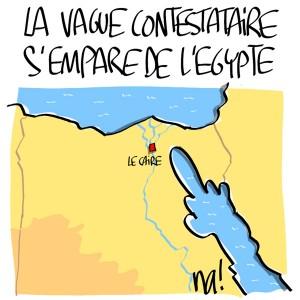 Nactualités : la vague contestataire s'empare de l'Egypte