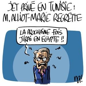 Nactualités : Jet Privé en Tunisie, Michèle Alliot-Marie regrette…