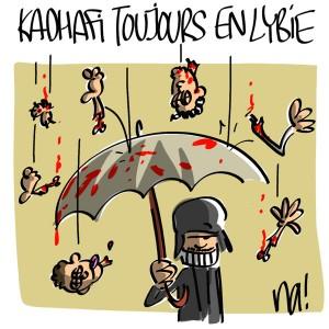 Nactualités : Kadhafi est toujours en Lybie