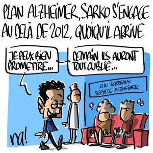 Nactualités : Plan Alzheimer, Sarkozy s'engage au delà de 2012, quoiqu'il arrive