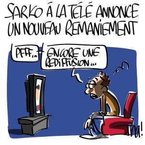 Nactualités : Sarkozy à la télé annonce un nouveau remaniement