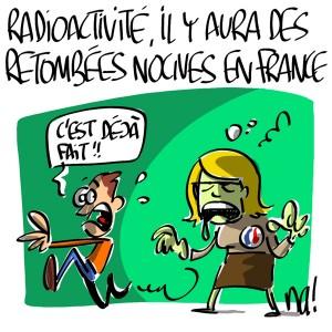 Nactualités : Radioactivité, il y aura des retombées nocives en France