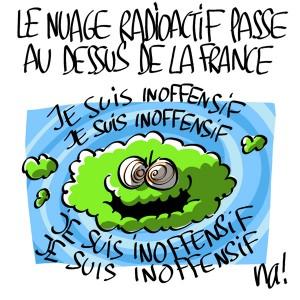 Nactualités : le nuage radioactif passe au dessus de la France