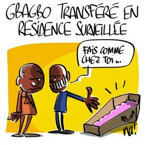 Nactualités : Gbagbo transféré en résidence surveillée