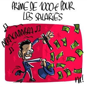 Nactualités : prime de 1000€ pour les salariés