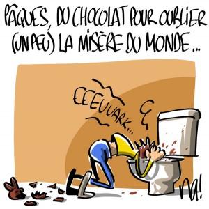 Nactualités : Pâques, du chocolat pour oublier (un peu) la misère du monde…