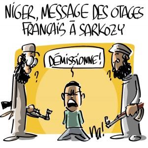 Nactualités : Niger, message des otages français à Sarkozy