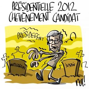 Nactualités : présidentielle 2012, Chevènement candidat