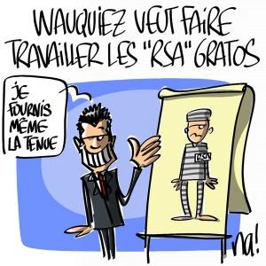 Nactualités : Laurent Wauquiez veut faire travailler gratuitement les bénéficiaires du RSA