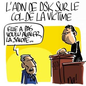 Nactualités : l'ADN de DSK sur le col de la victime