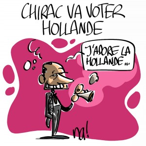 Nactualités : Chirac va voter Hollande
