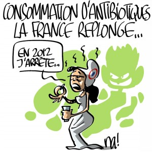 Nactualités : consommation d'antibiotiques, la France replonge…