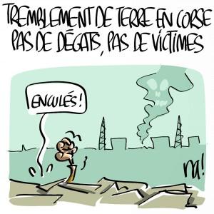 Nactualités : tremblement de terre en Corse, pas de dégats, pas de victimes…