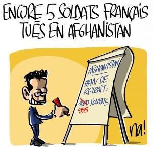 Nactualités : encore 5 soldats français tués en Afghanistan