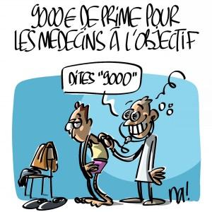 Nactualités : 9000€ de prime pour les médecins méritants