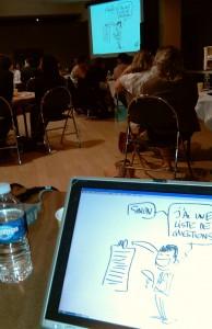 Intervention de dessin en direct live