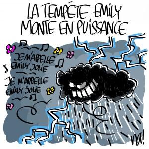 Nactualités : la tempête Emily monte en puissance
