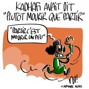 Nactualités : Kadhafi avait dit «plutôt mourir que partir»