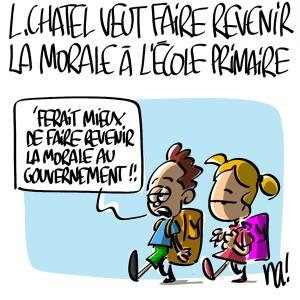 Nactualités : Luc Chatel veut faire revenir la morale à l'école primaire