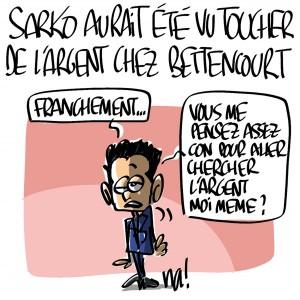 Nactualités : Nicolas Sarkozy aurait été vu toucher de l'argent chez les Bettencourt
