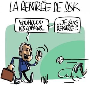 Nactualités : la rentrée de DSK
