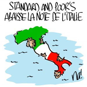Nactualités : Standard and Poor's abaisse la note de l'Italie