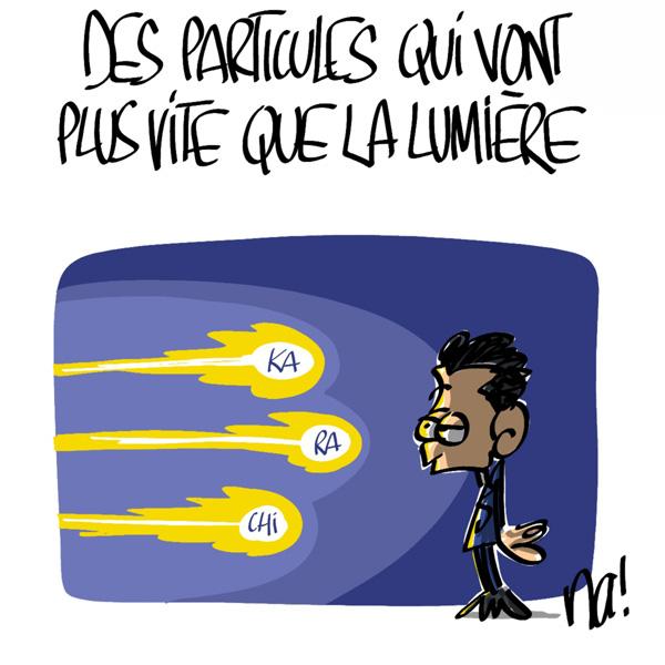 Nactualités : des particules qui vont plus vite que la lumière