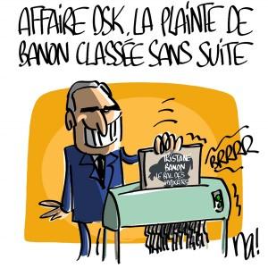 Nactualités : affaire DSK, la plainte de Tristane Banon classée sans suite