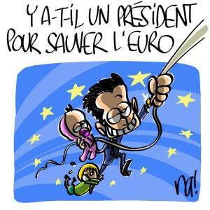 Nactualités : y'a-t-il un président pour sauver l'Euro ?