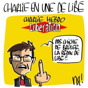 Nactualités : Charlie en Une de Libération