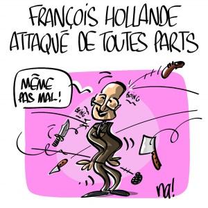 Nactualités : François Hollande attaqué de toutes parts