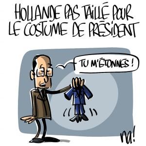 Nactualités : François Hollande pas taillé pour le costume de président