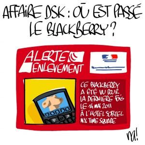 Nactualités : affaire DSK, où est passé le Blackberry ?