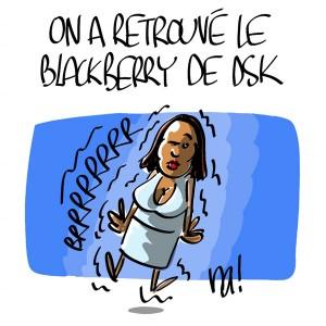 Nactualités : on a retrouvé le blackberry de DSK !